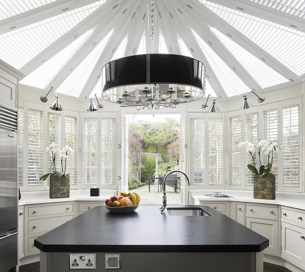 Kitchen - contemporary kitchen idea in Philadelphia with stainless steel appliances