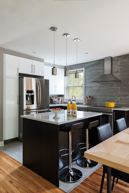 Contemporary kitchen by kim lapointe interior designer for Kitchen design montreal