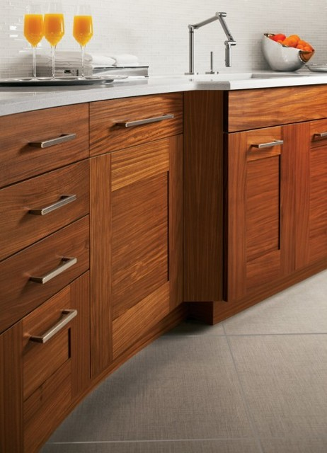 example of a trendy kitchen design in chicago - Kitchen Drawer Pulls