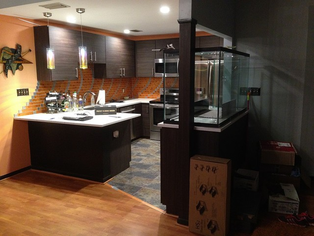 Kitchen cabinet remodeling with refacing contemporary kitchen