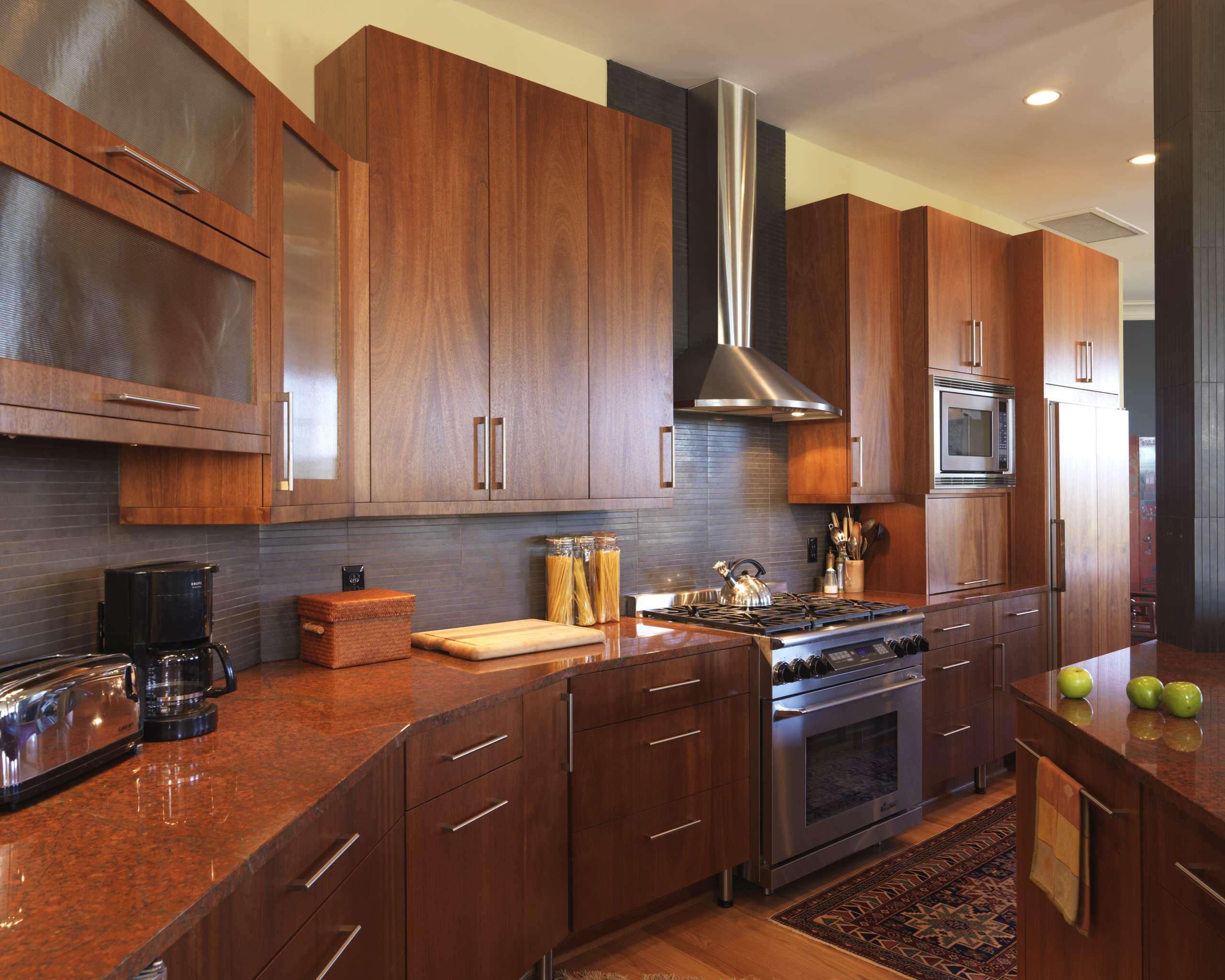 Mahogany Wood Cabinets Houzz