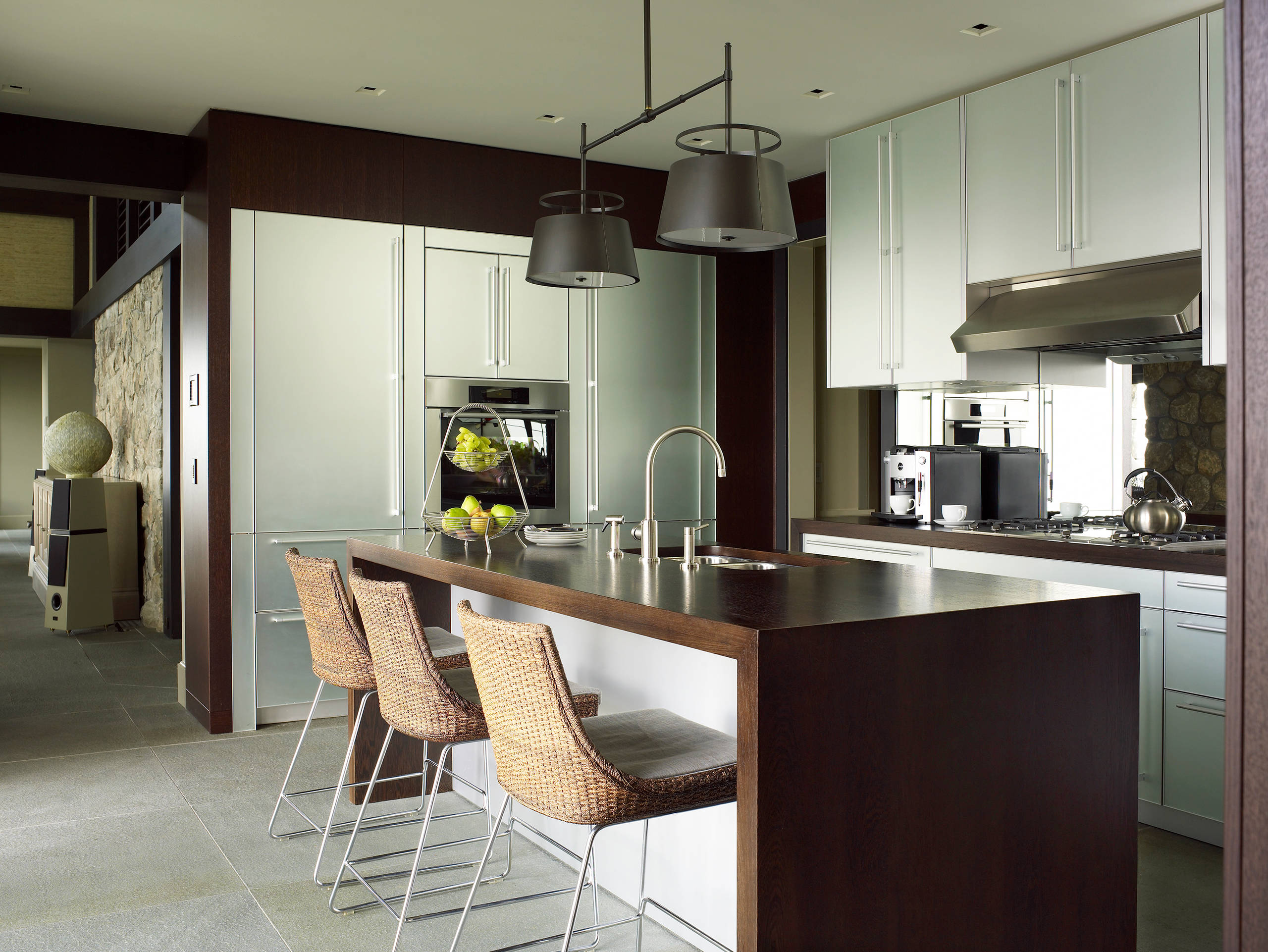 Archi In Casa Moderna 75 beautiful green kitchen with stainless steel cabinets