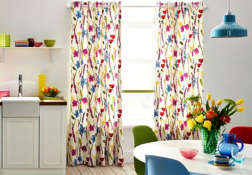 Vernal Rosebay Pink Curtains