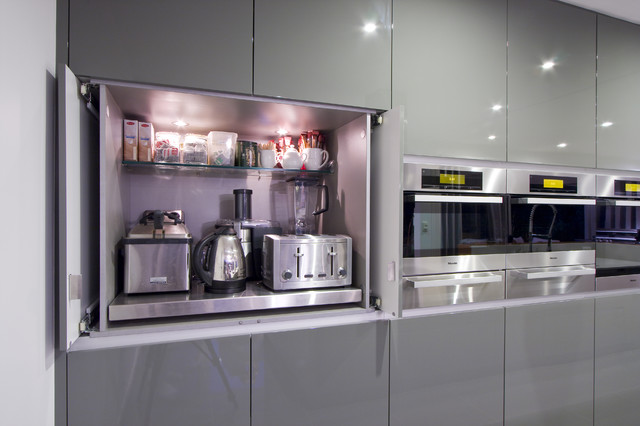 Modern Kitchen Appliances ~ The best places to stash small kitchen appliances