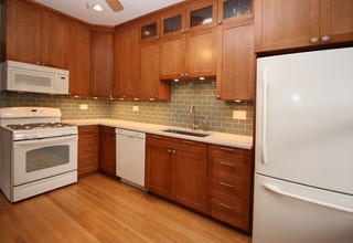 white and cherry wood kitchen remodel contemporary kitchen chicago