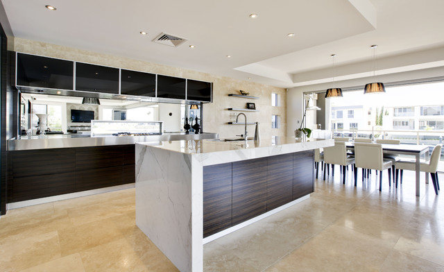 Charming Contemporary Kitchen Design Soverign Island Gold Coast Australia