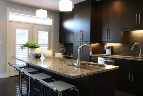 Love these dark cabinets But then what do you suggest for floors? Don