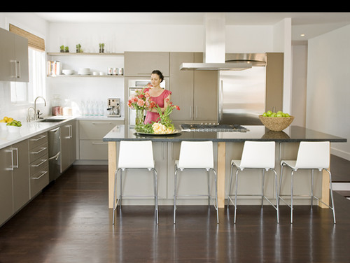 :: nicolehollis :: contemporary kitchen Open shelving