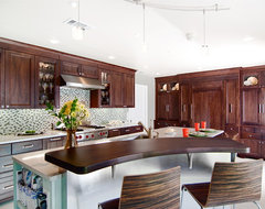 Cool island design eclectic kitchen