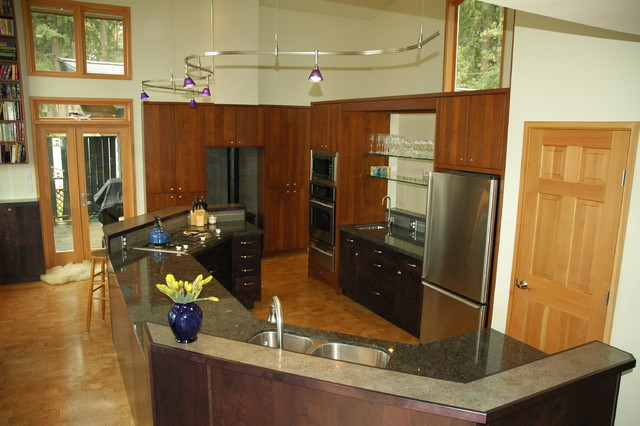 Contemporary Kitchen In Poulsbo Wa Lemolo Area Contemporary Kitchen Seattle By Wyland
