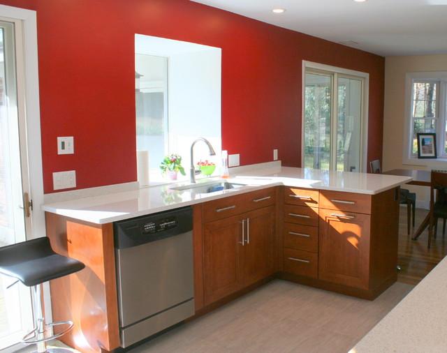 Contemporary Kitchen In Wayland Contemporary Kitchen Boston By Mary Porzelt Of Boston