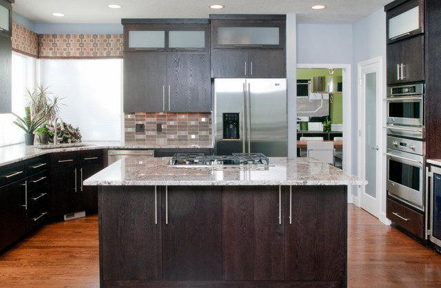 dark oak kitchen cabinets. Contemporary Kitchen Contemporary Kitchen