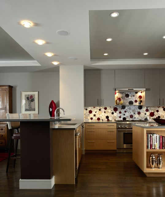 Modern Masterpiece Kitchen, Edina contemporary kitchen