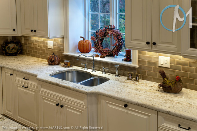 Genial Colonial Gold Granite Kitchen Countertops By Marble.com Contemporary Kitchen
