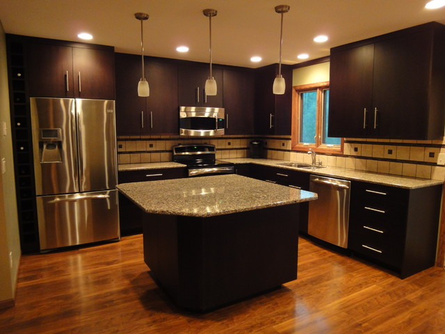 Contemporary kitchen for Contemporary kitchen cabinet colors