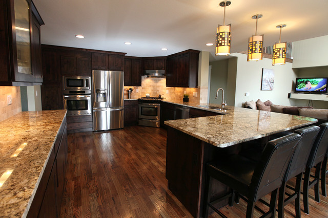 Contemporary kitchen remodel contemporary kitchen for Kitchen remodel denver