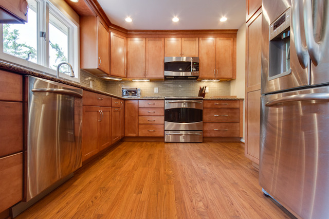 Contemporary Kitchen Remodel - Maple Toffee - Contemporary - Kitchen - other metro - by Reico ...