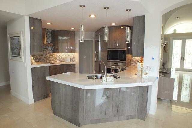 Contemporary Kitchen Remodel Miami FL