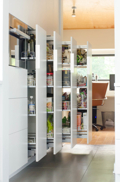 Contemporary Kitchen Remodel Pantry Pull-outs
