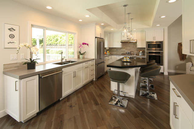 Contemporary Kitchen Remodel - South San Jose, CA - Transitional ...