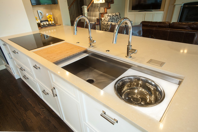 The galley reinventing the kitchen kitchen sinks for Galley kitchen sink