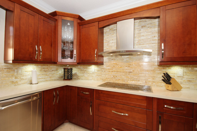 Contemporary Kitchen With A Rustic Touch Doral Fl