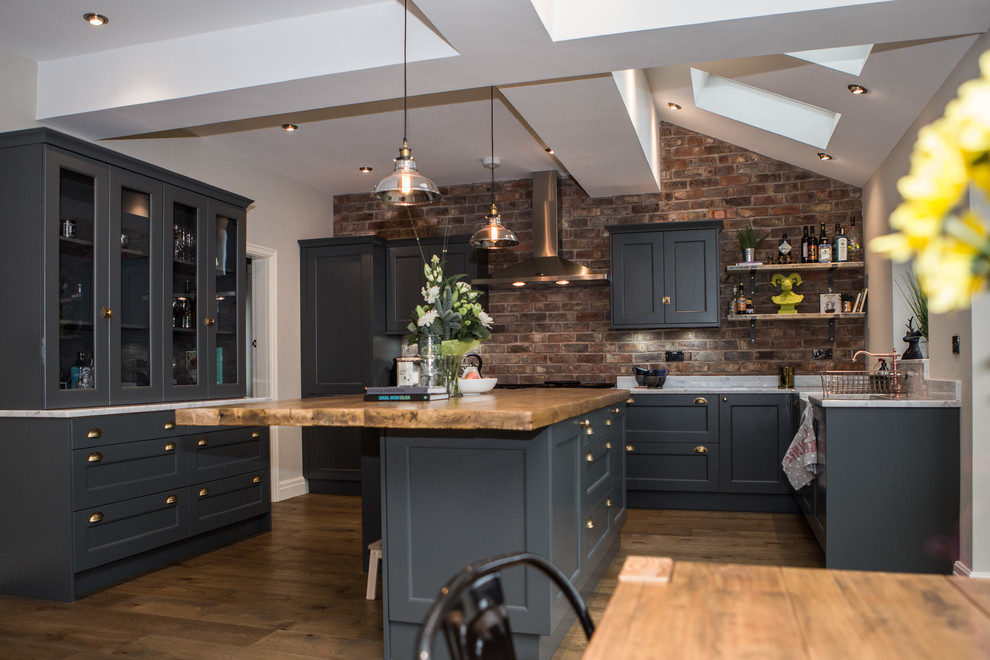 Contemporary Kitchen With Industrial Twist Traditional Kitchen Cheshire By Stag Kitchens Interiors Ltd