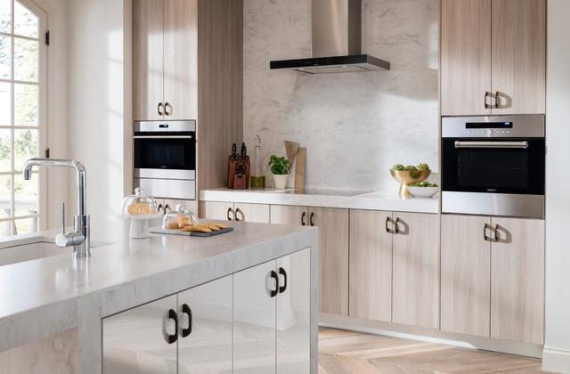 Contemporary Kitchen With Metropolis Door In Silver Elm Contemporary Kitchen
