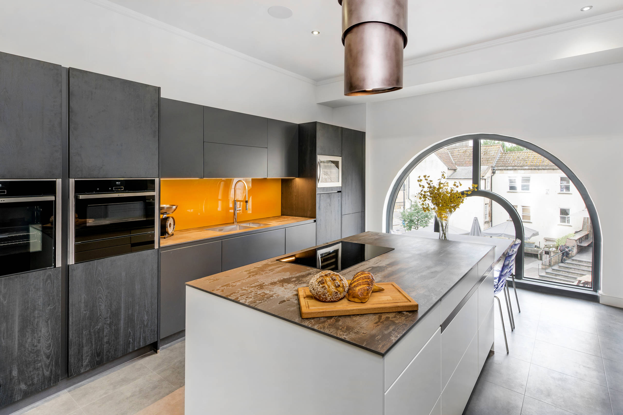 75 Beautiful Kitchen With Black Cabinets And Yellow Backsplash Pictures Ideas May 2021 Houzz