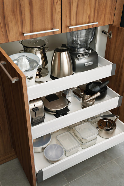 Interior Sliding Drawers - Contemporary - Kitchen - other ...