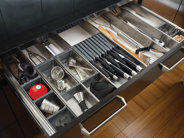 Stainless Steel Drawer Organizer - Contemporary - Kitchen - other metro - by Wood-Mode Fine ...