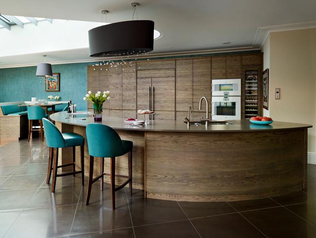 curved kitchen island | houzz