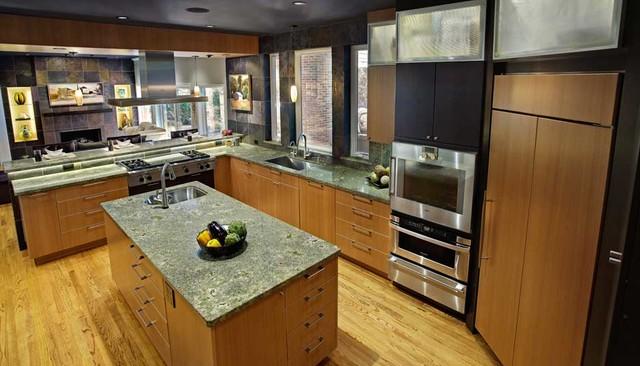 Contemporary kitchens contemporary kitchen by for Anigre kitchen cabinets