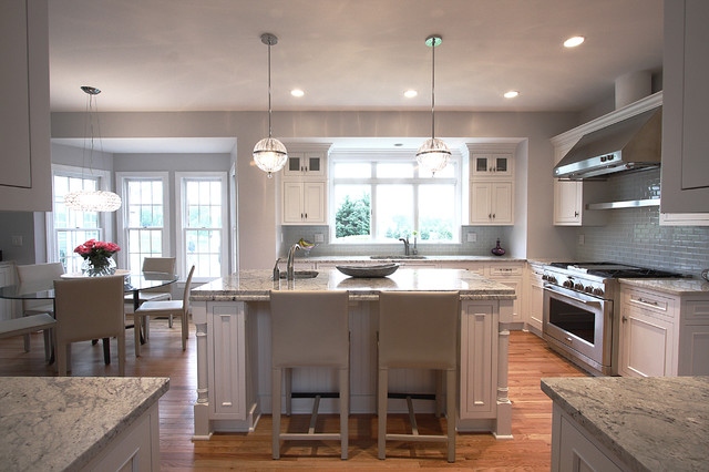 Modern lighting classic design traditional kitchen for Modern classic kitchen design ideas