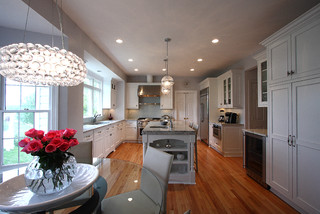 Contemporary Lighting + Classic Design traditional-kitchen
