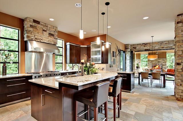 Contemporary luxury prairie home 3346 for Prairie style kitchen design