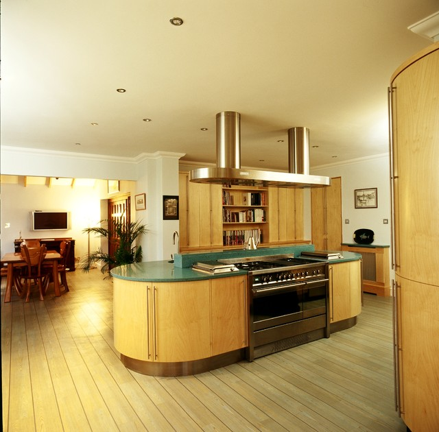 contemporary maple art deco kitchen contemporary