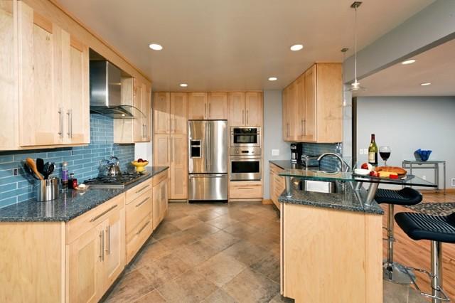 Contemporary Maple Kitchen contemporary-kitchen