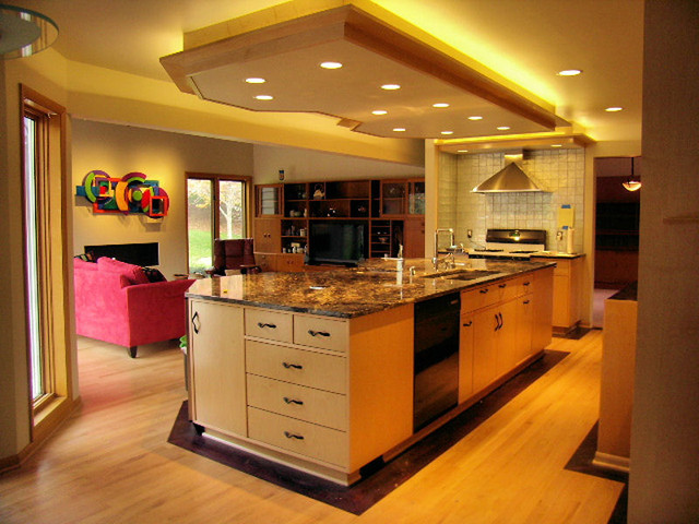 Contemporary Maple Kitchen traditional-kitchen