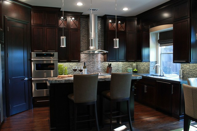 contemporary masculine home - contemporary - kitchen - dallas -