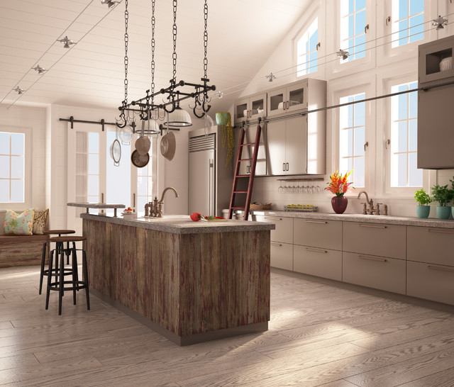 Rough Chic Collection - Transitional - Kitchen - montreal - by Miralis