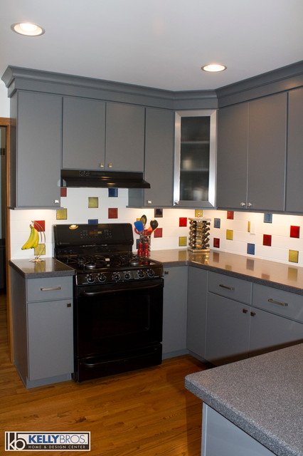 Contemporary Mondarian Inspired Kitchen Contemporary Kitchen Cincinnati By Kelly
