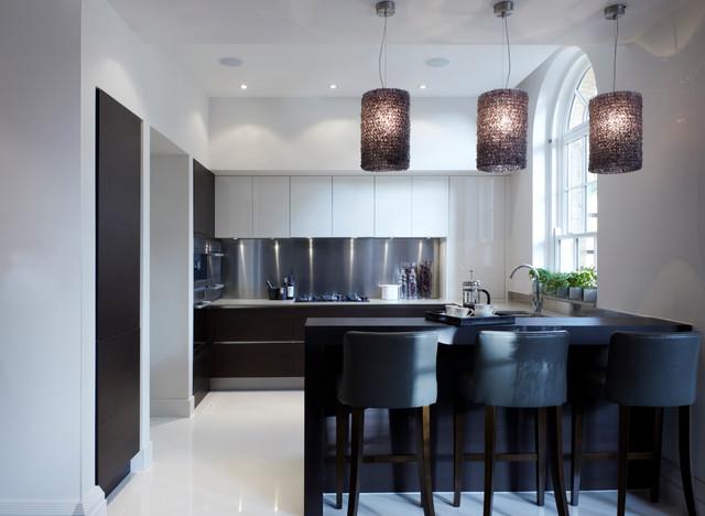 Contemporary Monochrome Kitchen Contemporary Kitchen