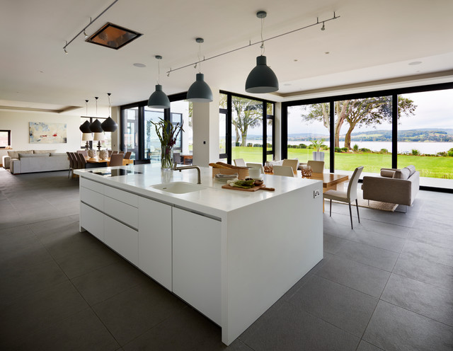 Contemporary New Build with Estuary Views - Contemporary - Kitchen ...