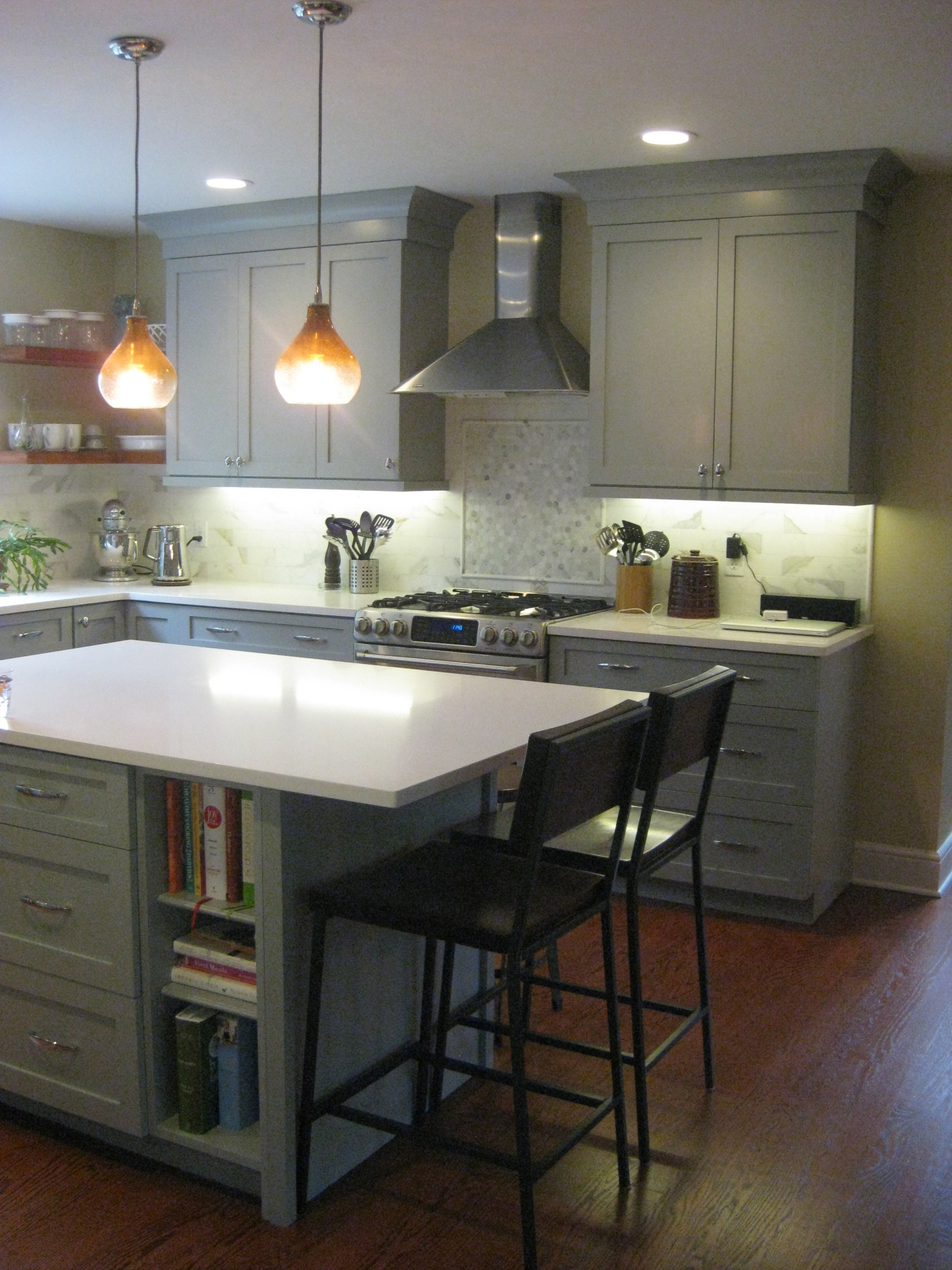Contemporary- Not modern- Painted Kitchen