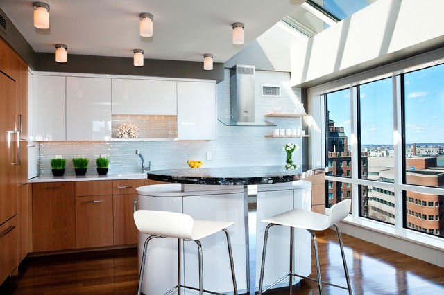 Contemporary Penthouse Contemporary Kitchen Boston By Cw Design Llc