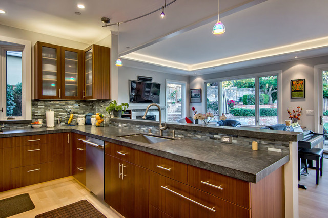 Contemporary prairie style addition remodel for Prairie style kitchen