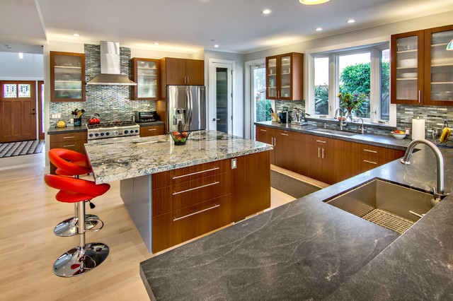 Contemporary prairie style addition remodel contemporary kitchen san francisco by for Prairie style kitchen design