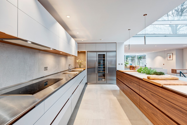 Contemporary residential london project for Kitchen cabinets 07726