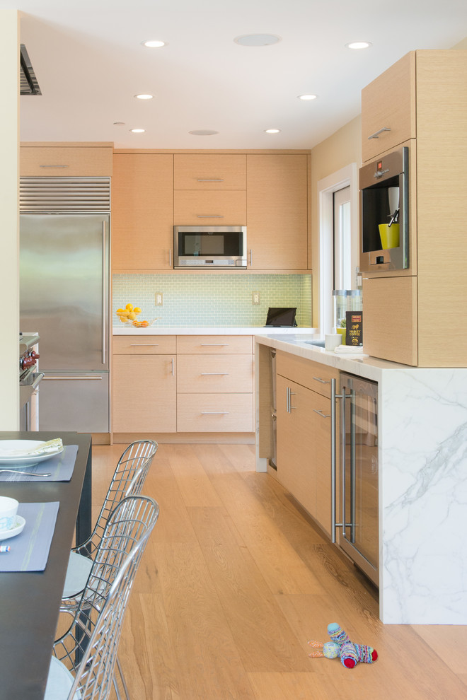 Contemporary Rift Cut White Oak Kitchen Cabinets Contemporary Kitchen San Francisco By Marin Cabinet Studio Inc